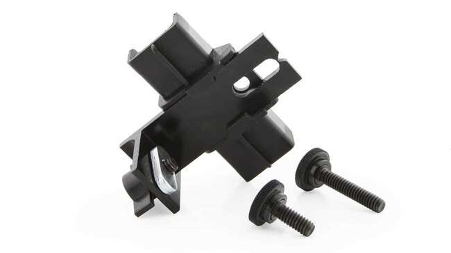 Vernier Pulley Bracket  Color: Black:Teaching Supplies