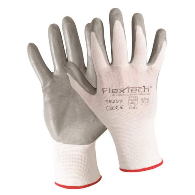 Wells Lamont FlexTech Gloves with Foam Nitrile Palm X-large; Gray:Gloves,
