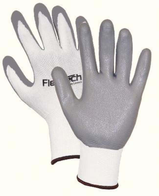 Wells Lamont FlexTech Gloves with Foam Nitrile Palm X-small; Gray:Gloves,