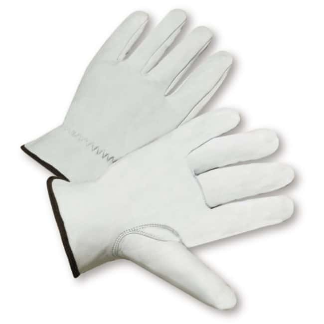 West Chester Premium Grain Goatskin Leather Driver Gloves with Keystone