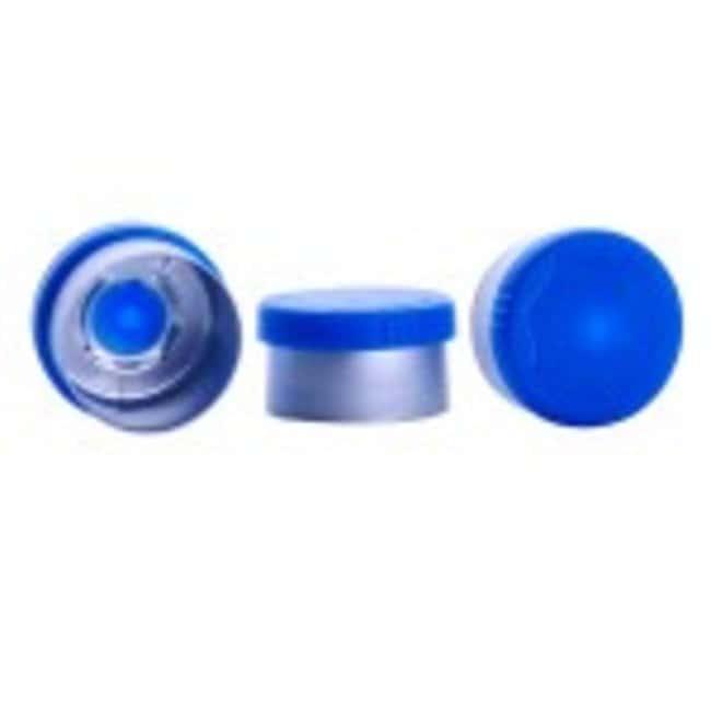 DWK Life Sciences Wheaton CompletePAK Sterile Vial Seals 13mm; Blue:Test