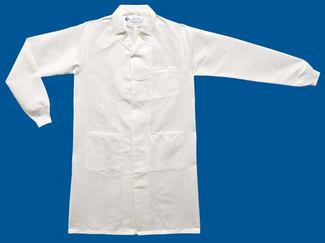 White Knight Reusable Barrier Lab Coat with Static Management:Gloves, Glasses