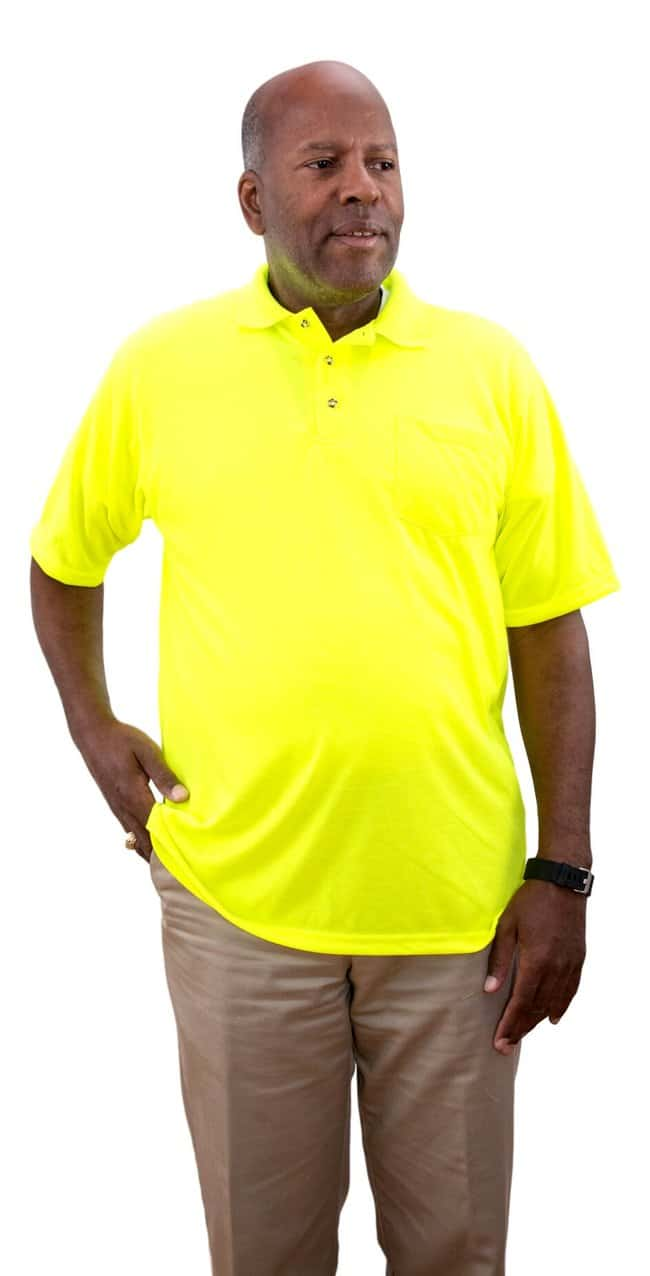 White Knight High Visibility Short Sleeve Polo Shirt with Pocket:Gloves,
