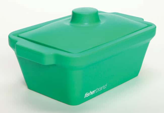 Fisherbrand™EVA Foam Ice Pans and Buckets with Lids 4 L capacity; Green color; Pan Fisherbrand™EVA Foam Ice Pans and Buckets with Lids