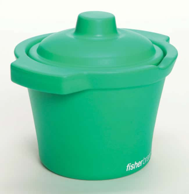 Fisherbrand™EVA Foam Ice Pans and Buckets with Lids 4 L capacity; Green color; Bucket Fisherbrand™EVA Foam Ice Pans and Buckets with Lids
