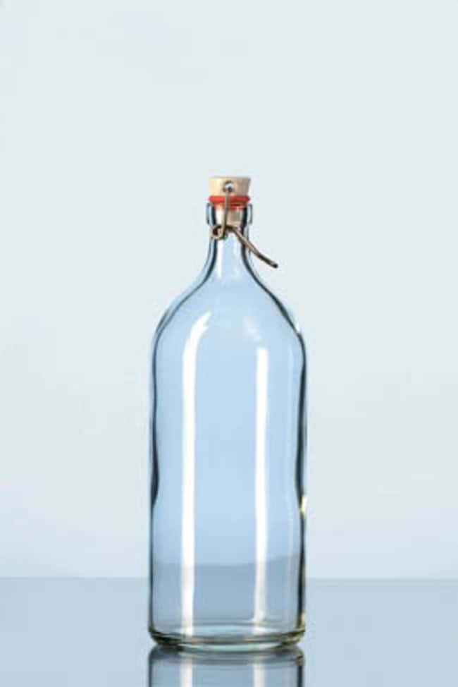 Duran™ Glass Rolled Flange Bottles with Clamp Closure Capacity: 500mL Duran™ Glass Rolled Flange Bottles with Clamp Closure