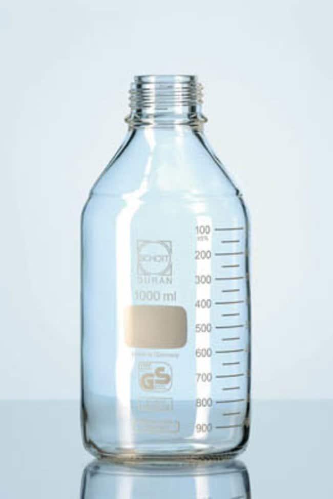 duran premium laborflaschen aus glas mit schraubverschluss und ausgie ring glasflaschen. Black Bedroom Furniture Sets. Home Design Ideas