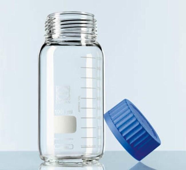 duran laborflasche aus glas mit weiter ffnung schraubverschluss und ausgie ring glasflaschen. Black Bedroom Furniture Sets. Home Design Ideas