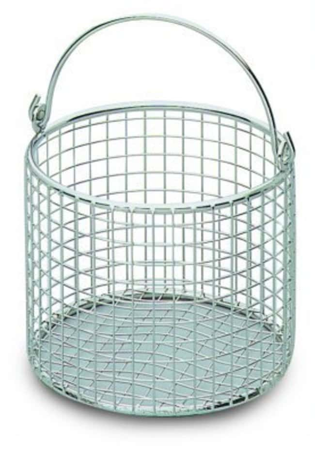 Bochem Round Stainless Steel Wire Baskets With Handle Dia 120mm Height 100mm