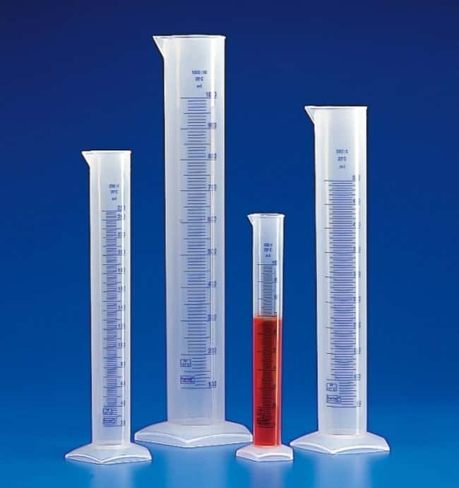 Kartell™Translucent Polypropylene Tall Form Measuring Cylinders with Blue Graduations Capacity: 100mL Kartell™Translucent Polypropylene Tall Form Measuring Cylinders with Blue Graduations