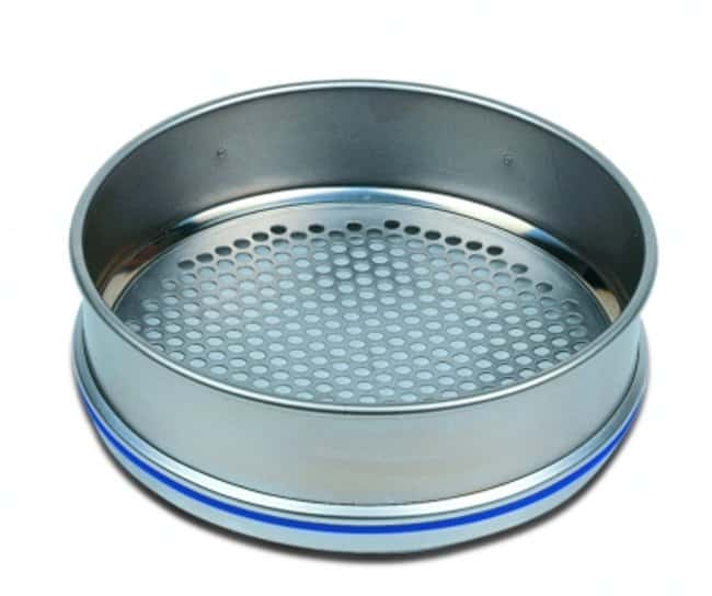 RETSCH Stainless-Steel Test Sieves, 200 Dia. x 50mmH, with Perforated Plates with Round Holes and Pore Size Greater than 10mm Pore Size: 80mm RETSCH Stainless-Steel Test Sieves, 200 Dia. x 50mmH, with Perforated Plates with Round Holes and Pore Size Greater than 10mm