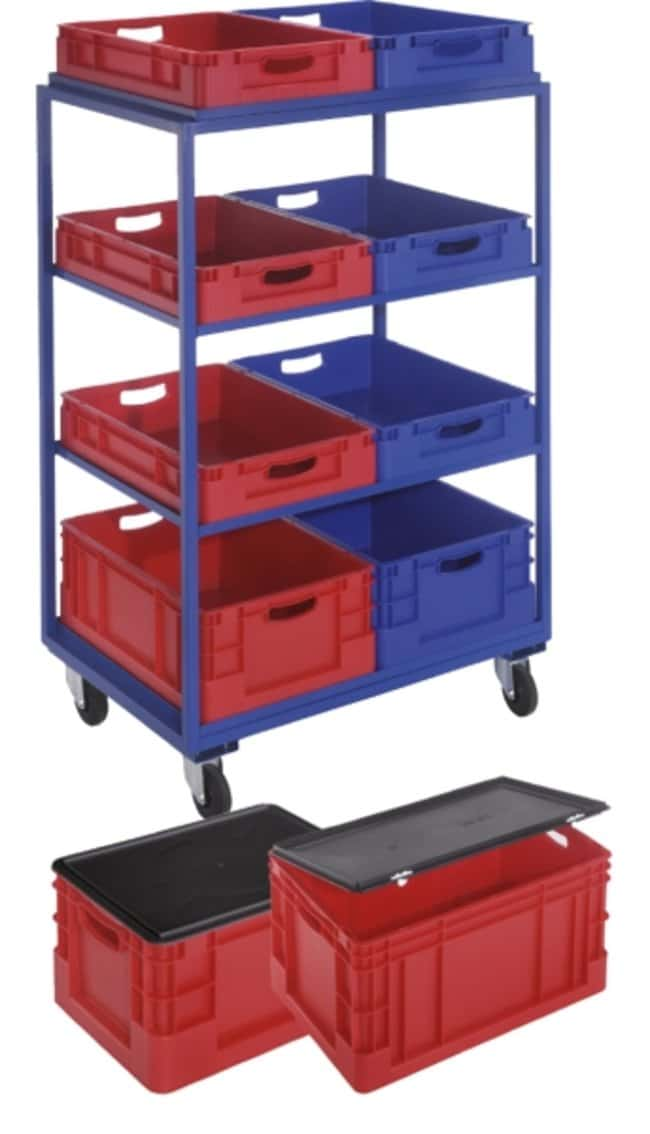 Kappes Systeme™ Euro-transportdoos van polypropyleen Color: Red; Dimensions (L x W x H): 600 x 400 x 320mm Kappes Systeme™ Euro-transportdoos van polypropyleen