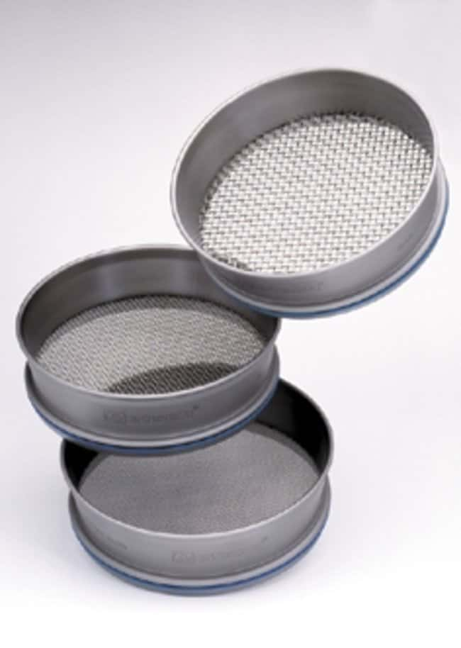 RETSCH 203.2 dia. x 50.8mmH Stainless Steel Test Sieve, ISO Certificate, Pore Size: 10mm and Larger Pore Size: 90mm RETSCH 203.2 dia. x 50.8mmH Stainless Steel Test Sieve, ISO Certificate, Pore Size: 10mm and Larger