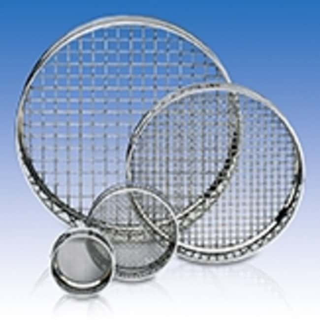 RETSCH 305 dia. x 40mmH Stainless Steel Test Sieve, ISO Certified, Pore Sizes: 10mm and Larger Pore Size: 20mm RETSCH 305 dia. x 40mmH Stainless Steel Test Sieve, ISO Certified, Pore Sizes: 10mm and Larger