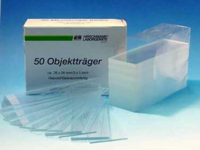 Hirschmann™ Microscope Slides with Ground Edges Edges: Ground Hirschmann™ Microscope Slides with Ground Edges