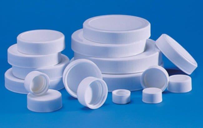 Fisherbrand™White Polypropylene PE Foam/PTFE Cap