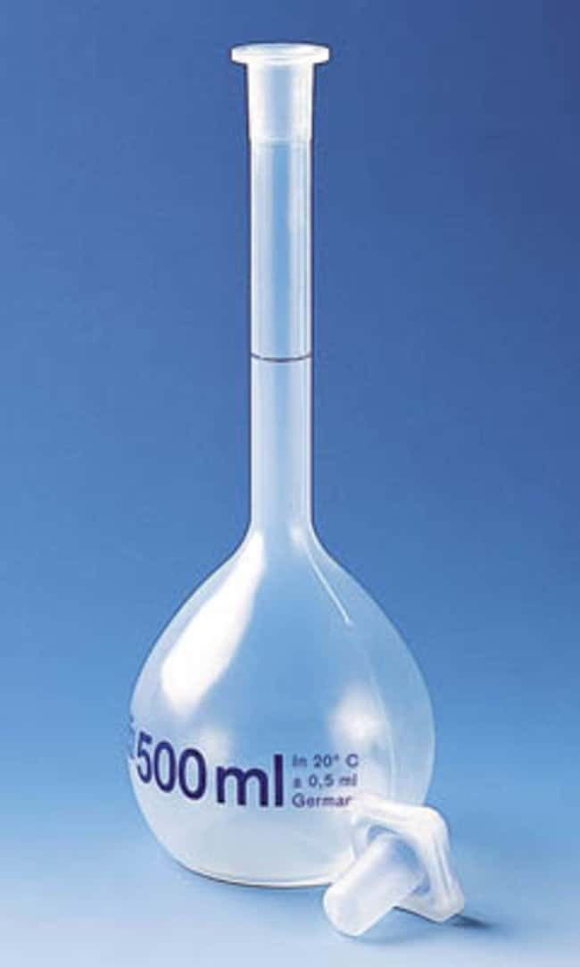 BRAND™ Fiole jaugée en PMP de classe B Capacity: 1000mL; Height: 298mm; Temperature: 121 deg. C; Tolerance: ±0.8mL voir les résultats