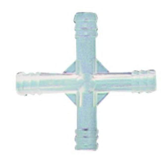 Kartell™Conectores de 4 vías de polipropileno: Tubing Connectors, Fittings, and Accessories Tubing