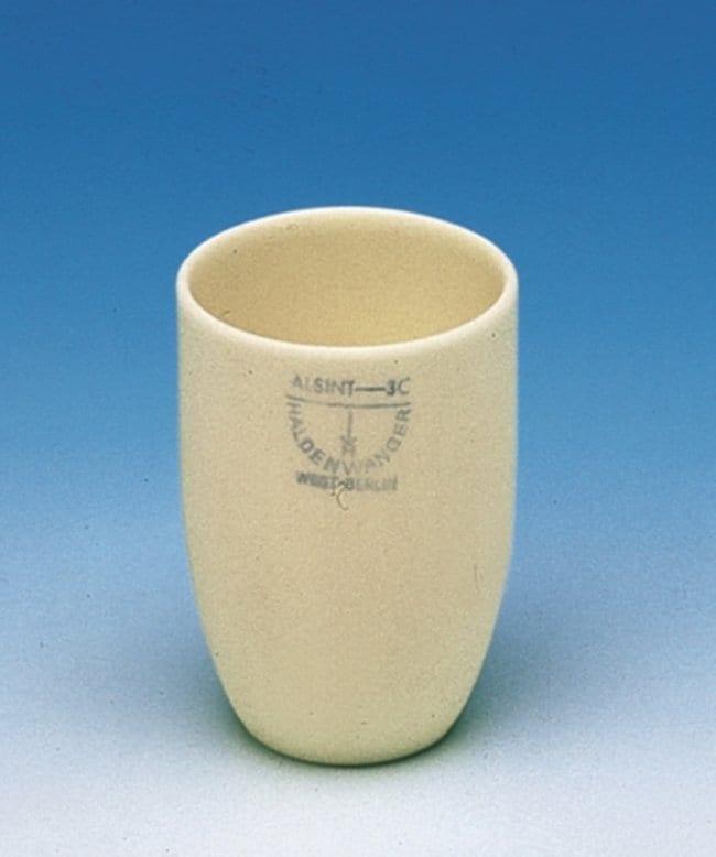 Haldenwanger™Aluminum Ceramic Conical Tall Form Crucibles Capacity: 20mL Haldenwanger™Aluminum Ceramic Conical Tall Form Crucibles