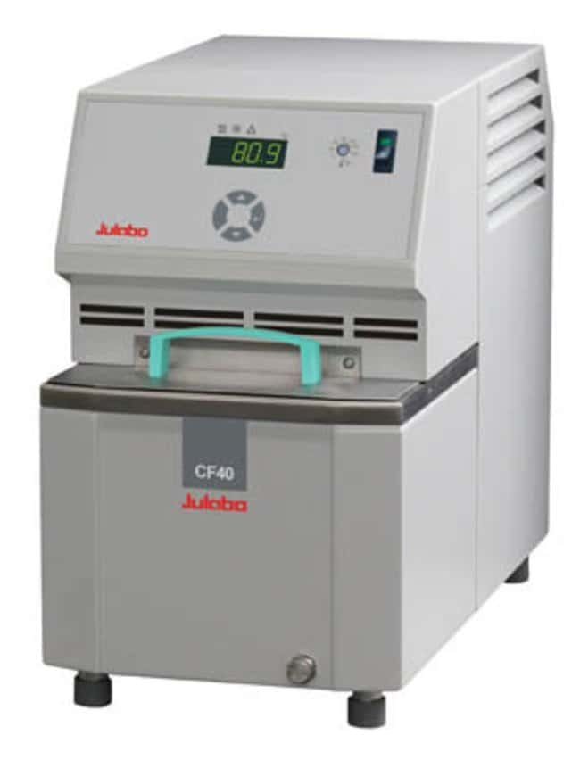 JULABO™ Cryo-Compact Circulator, CF Series Range: -40 to 150°C; Cooling Capacity: 0.47kW at 20°C, 0.4kW at 0°C, 0.28kW at -20°C JULABO™ Cryo-Compact Circulator, CF Series