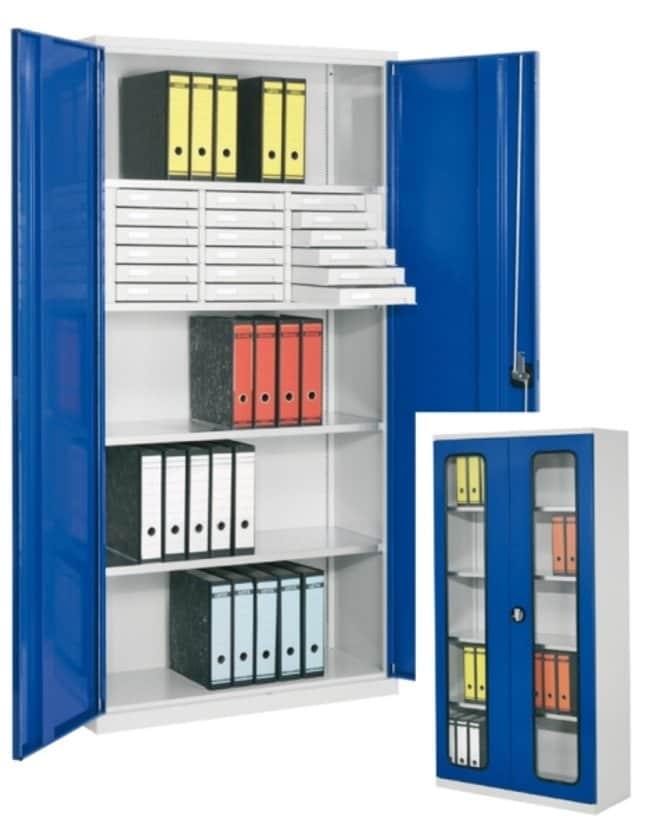 Kappes Systeme™Systemschrank mit Vollblechtüren, BxTxH=1000x500x1950mm, RAL 7035 1 Dimensions (D x W x H): 410 x 1000 x 1950mm Laborschränke