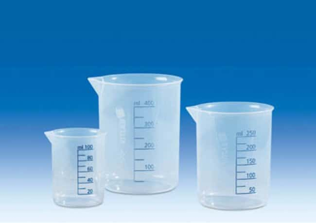 VITLAB™ Polypropylene Griffin Beakers Capacity: 3000mL VITLAB™ Polypropylene Griffin Beakers