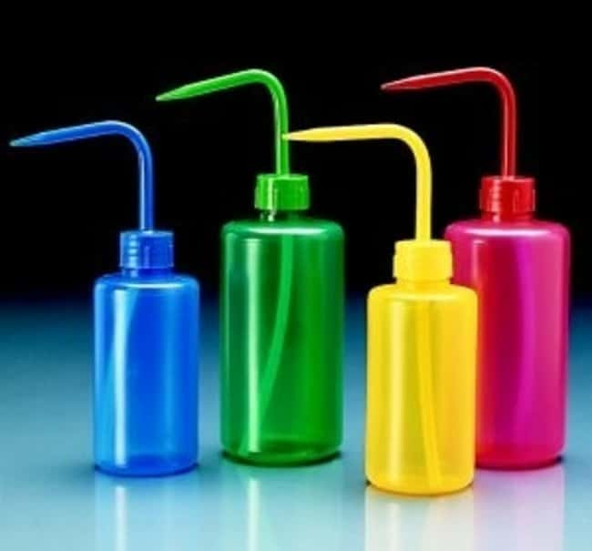 VITLAB™ Colored LDPE Narrow Mouth Wash Bottles Capacity: 500mL, Green VITLAB™ Colored LDPE Narrow Mouth Wash Bottles