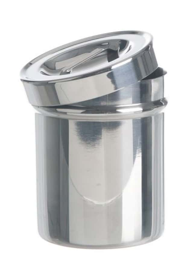 Bochem™Steel Dressing Jars with Lid and Integral Handle Dimensions: 124 dia. x 130mmH Products