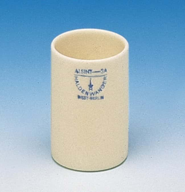 Haldenwanger™ Aluminum Ceramic Cylindrical Flat Bottom Crucibles Capacity: 110mL Haldenwanger™ Aluminum Ceramic Cylindrical Flat Bottom Crucibles