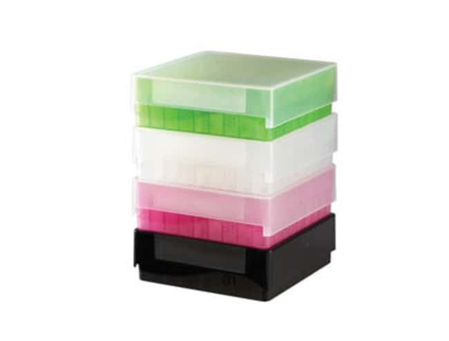 Fisherbrand™ Polypropylene Cryogenic Storage Box Holds: 81; Color: Green Fisherbrand™ Polypropylene Cryogenic Storage Box