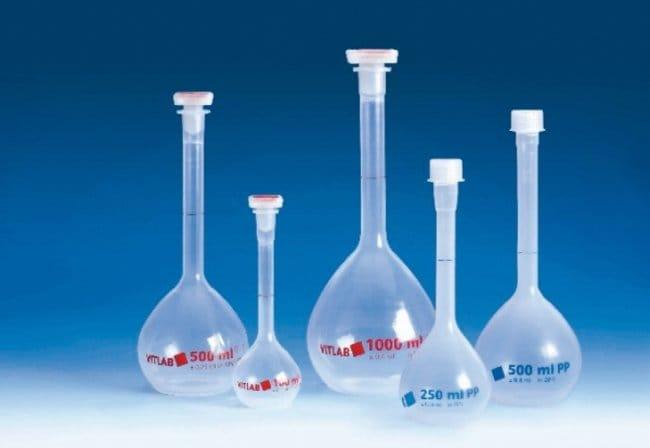 VITLAB™PMP-Messkolben, KlasseB Capacity: 10mL; Height: 90mm; Includes: NS 10/19 stopper; Tolerance: ±0.08mL Produkte