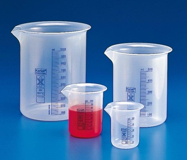 Kartell™Polypropylene Low Form Beakers with Blue Printed Graduations: Beakers   50mL, 250mL, 500mL   Fisher Scientific Beakers, Bottles, Cylinders and Glassware