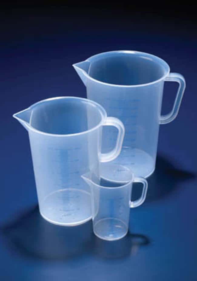 Jarras impresas de polipropileno Azlon™: Vasos de precipitados Vasos de precipitados, frascos, probetas y material de vidrio