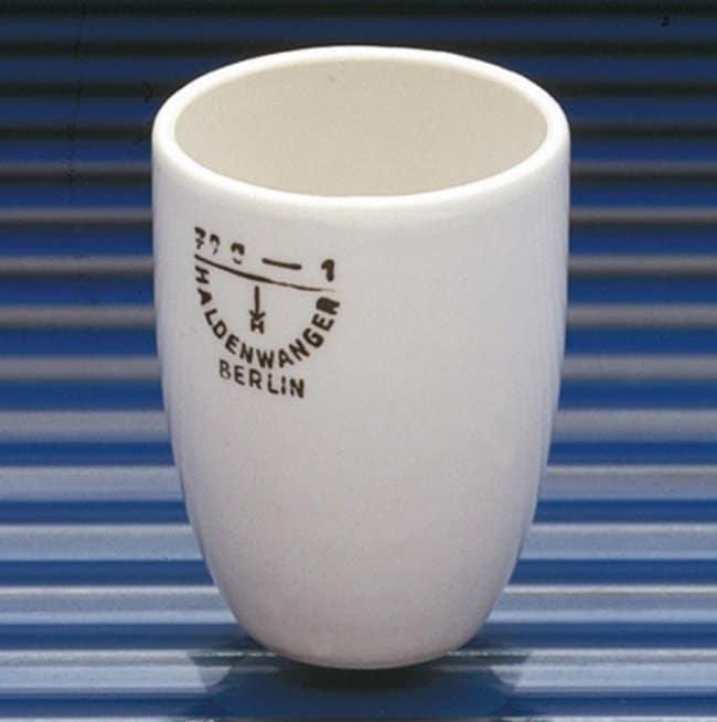 Haldenwanger™Porcelain Medium Form Melting Crucibles Capacity: 200mL; Height: 65mm; Glazed Inside and Outside Except Base Haldenwanger™Porcelain Medium Form Melting Crucibles