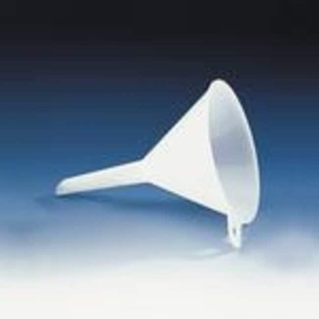 Brand™Plain Interior Polypropylene Funnels Stem Length: 43mm Brand™Plain Interior Polypropylene Funnels