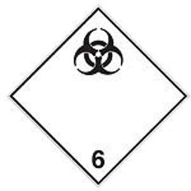 Brady™ Laminated Polyester Stickers for the Transport of Infectious Substances Dimensions (W x H): 200 x 200mm Brady™ Laminated Polyester Stickers for the Transport of Infectious Substances