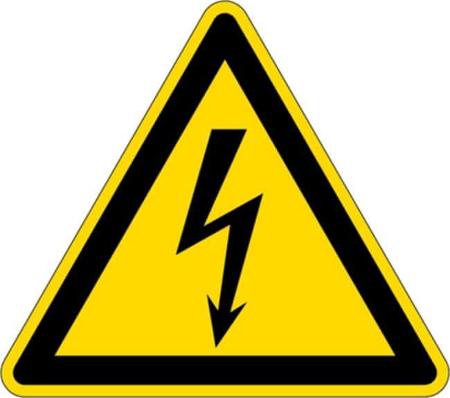 Brady™ Aluminum with Polyester Overlaminate Warning Labels: Dangerous Electrical Voltage Dimensions (W x H): 200 x 200mm Brady™ Aluminum with Polyester Overlaminate Warning Labels: Dangerous Electrical Voltage