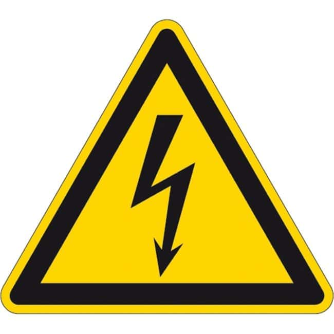 Brady™ Laminated Polyester Warning Labels: Dangerous Electrical Voltage Dimensions (W x H): 50 x 50 mm Brady™ Laminated Polyester Warning Labels: Dangerous Electrical Voltage