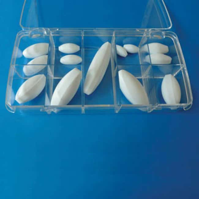 Fisherbrand™ Stir Bar Box Set, Oval Includes: 13 Oval Stirrer Bars 2 each of 20x10, 25x12, 30x16, 35x16, 40x20, 50x20, 1 each of 70x20mm Stir Bars