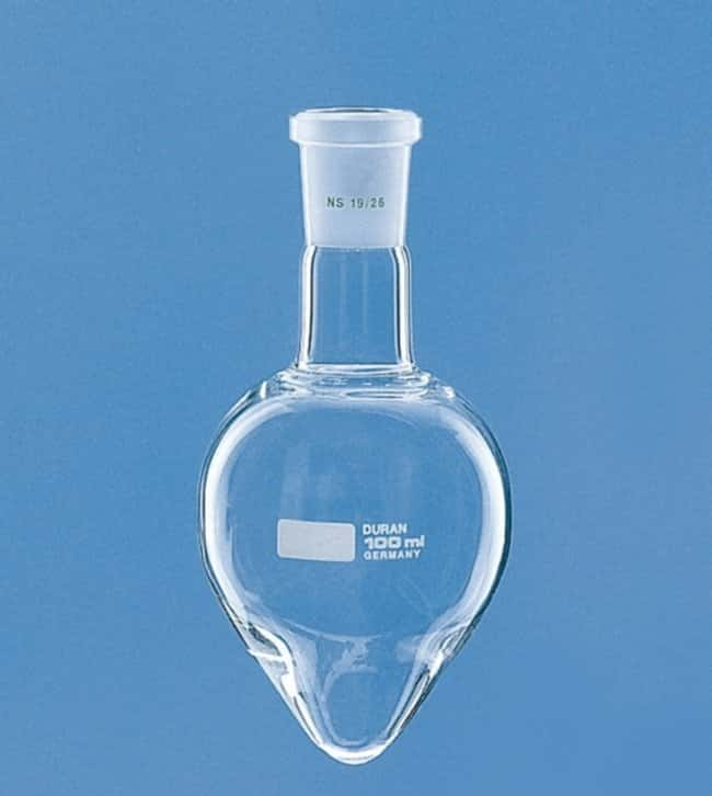 Lenz Laborglasinstrumente™ Pear-Shaped Flasks with Conical Ground Joint: Laboratory Flasks Dishes, Plates and Flasks