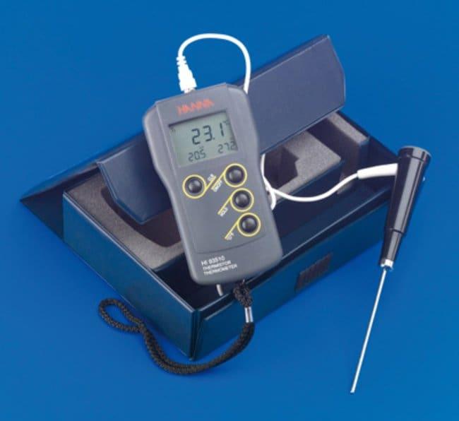 Hanna Instruments™Thermistor Probe with Handle, Stainless Steel Para su uso con: Para medir la temperatura del aire y los gases Ver productos