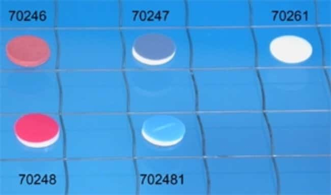 Macherey-Nagel™Septa for Type N 8 Screw Caps Material: PTFE virgen; color: blanco; superficie: Sólido Macherey-Nagel™Septa for Type N 8 Screw Caps