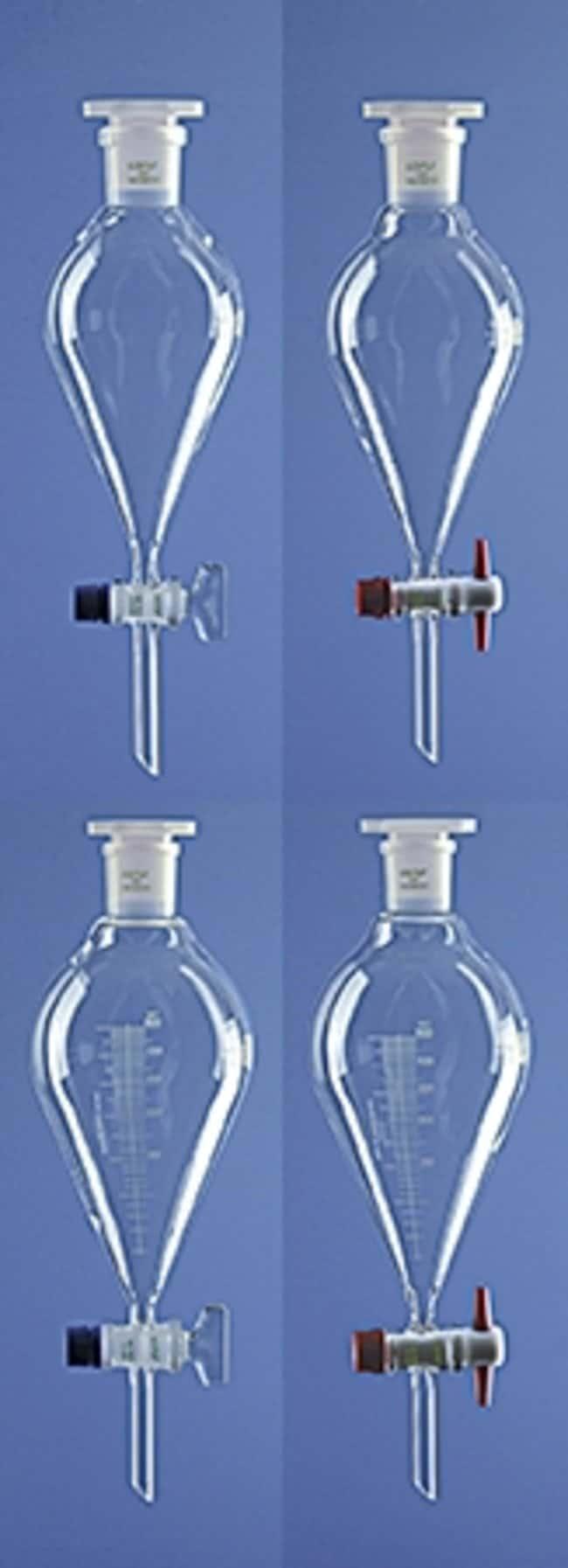 Lenz Laborglasinstrumente™Konische Scheidetrichter aus Borosilikatglas mit Vollglasstopfen, Skala: Funnels and Filtration Becher, Flaschen, Zylinder und Glasartikel