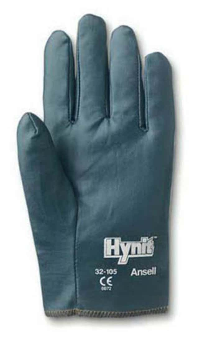 Ansell Hynit 32-105 Series Blue Nitrile Medium Weight Gloves:Gloves, Glasses