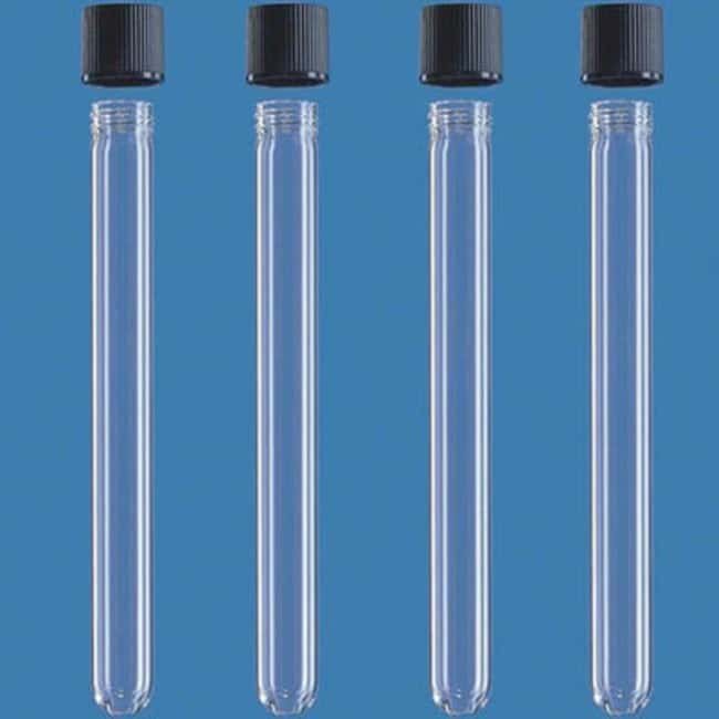 BRAND™ Soda Lime Glass Culture Tubes with Screw Cap: Home