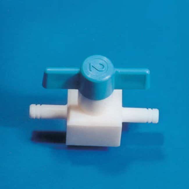 Fisherbrand™ PTFE Standard Straight Through Valve, bayonet fittings Arm Diameter: 11mm Fisherbrand™ PTFE Standard Straight Through Valve, bayonet fittings