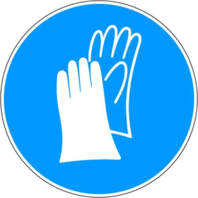 Brady™Aluminum with Polyester Overlaminate Mandatory Signs Protective gloves; Diameter: 200mm Brady™Aluminum with Polyester Overlaminate Mandatory Signs