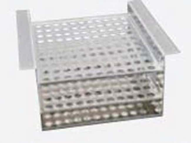 HUBERPolycarbonate Test Tube Rack Depth: 95 mm, Holds: 20 x 17 mm dia. HUBERPolycarbonate Test Tube Rack