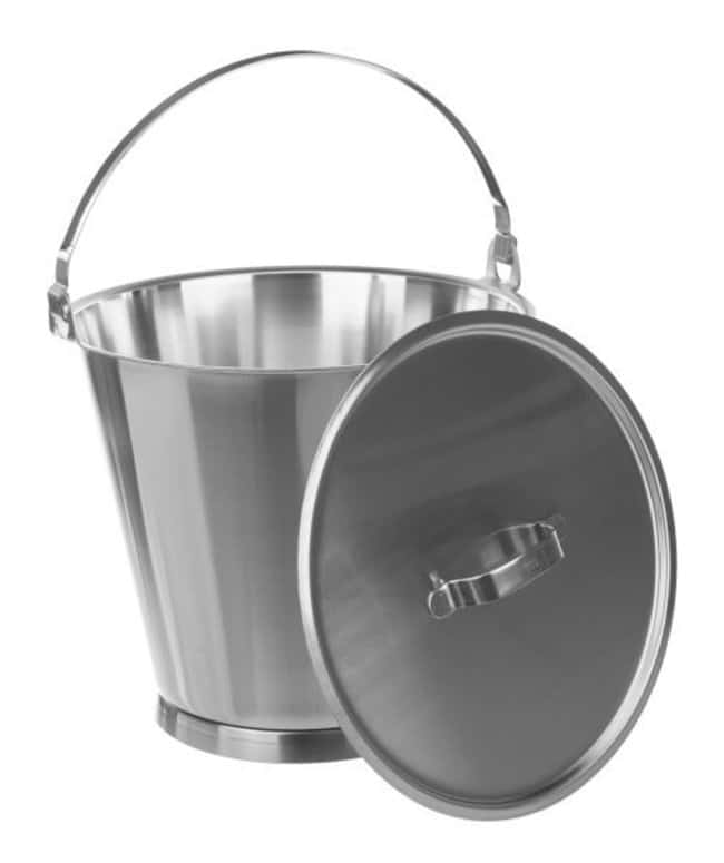 Bochem™Stainless Steel Graduated Buckets with Base Ring Capacity: 15L; Outside Dia.: 300mm; Height: 305mm Bochem™Stainless Steel Graduated Buckets with Base Ring