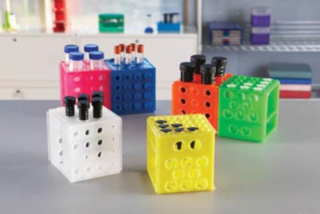 Fisherbrand™Interlocking Cube Rack Assorted Colors; Height: 113mm Microtube Racks